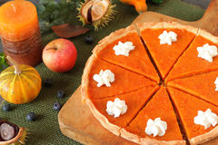 Rustic pumpkin pie Royalty Free Stock Image