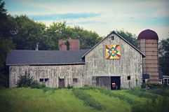 Rustic Quilt Barn Stock Photography