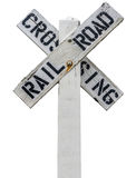 Rustic Railroad Crossing Sign Stock Image