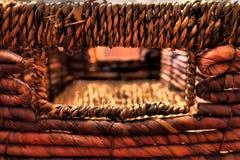 Rustic rattan box Royalty Free Stock Photography