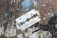 Rustic razor blade Stock Photo