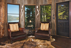 Rustic Reading Room in Rural Setting Royalty Free Stock Photo