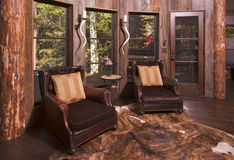 Rustic Reading Room in Rural Setting Stock Photo