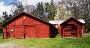 Rustic Red Barn – Virginia, USA Stock Photo