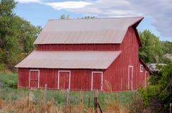Rustic red barn in colorado Stock Image
