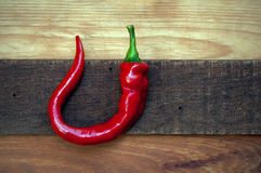 Rustic Red Pepper Royalty Free Stock Images