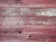 Rustic red weathered barn wood board background Stock Photography