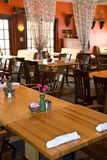 Rustic restaurant dining Stock Image
