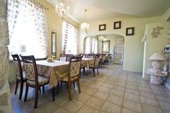 Rustic restaurant interior Stock Image