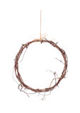 Rustic ring decoration isolated on white. Stock Photo