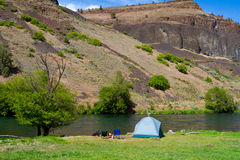Rustic River Camp Royalty Free Stock Photography