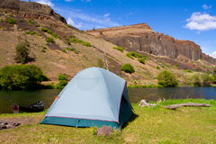 Rustic River Camp Stock Photography