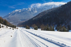 Rustic road in winter Royalty Free Stock Photography