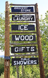 Rustic roadside advertising sign royalty free stock photography