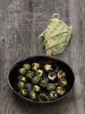 Rustic roasted brussels sprout Stock Photos