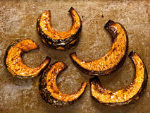 Rustic roasted pumpkins Royalty Free Stock Images