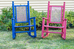 Rustic Rocking Chairs Royalty Free Stock Photo