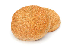 Rustic rolls. Shot of some delicious wholemeal rolls on white Stock Photo