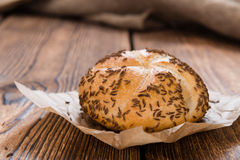 Rustic Rolls with Caraway Stock Image
