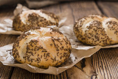 Rustic Rolls with Caraway Stock Images