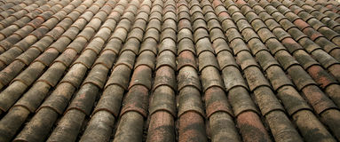 Rustic Roof Tiles Background Provence France Royalty Free Stock Photo