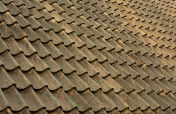 Rustic roof tiling background Royalty Free Stock Image