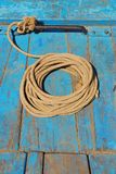 Rustic Rope on Boat Bow