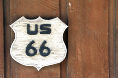 Rustic Route 66 sign Royalty Free Stock Photos