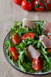 Rustic ruccola salad Stock Images