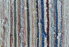 Rustic rug texture Stock Photography