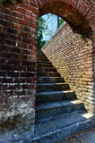 Rustic ruin stairs Royalty Free Stock Photo