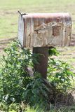 Rustic rural mailbox Royalty Free Stock Photo