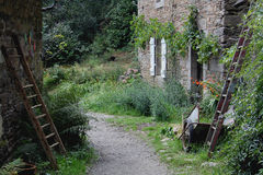 Rustic rural scene, Brittany, France. Rustic rural scene, Pont-Aven Brittany, France royalty free stock photos