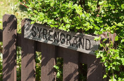 Rustic rural street sign Royalty Free Stock Image