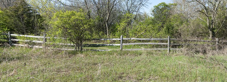 Rustic Rural Wood Fence Panorama Panoramic Banner Royalty Free Stock Images