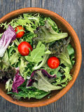 Rustic salad greens Royalty Free Stock Photo