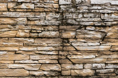 Rustic sand stone tile. Rustic sandstone tiles on the wall, Koh Phangan, Thailand Stock Photos