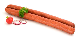 Rustic sausage Stock Photography