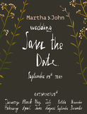 Rustic Save the Date Invitation Card Template with Royalty Free Stock Image