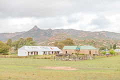 Rustic scene in Kamieskroon. KAMIESKROON, SOUTH AFRICA - AUGUST 13, 2015: A rustic scene in Kamieskroon, a small town in the Northern Cape Namaqualand stock photography
