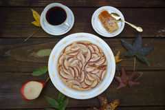 Rustic seasonal pie with pears Stock Images