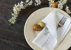 Rustic setting table Royalty Free Stock Image