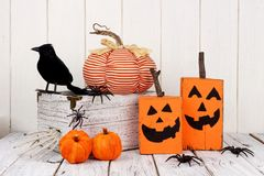 Rustic shabby chic Halloween decor Stock Images
