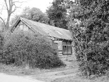 Rustic, Shabby House in Black and White old Royalty Free Stock Image