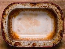 Rustic shabby pie pan Stock Photos