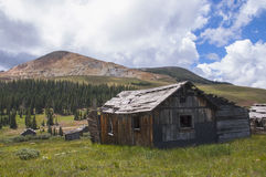 Rustic Shacks in the Rockies Royalty Free Stock Photo