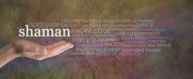 Rustic Shaman Word Coud Banner Royalty Free Stock Photo