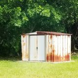 Rustic Shed stock image