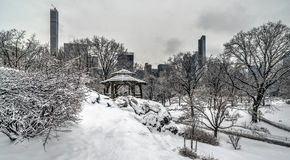 Rustic Shelter after snow storm Royalty Free Stock Images