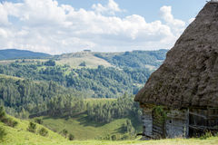 Rustic shelter. Shelter used for both cattle and their owners, high up in the mountains Royalty Free Stock Photography